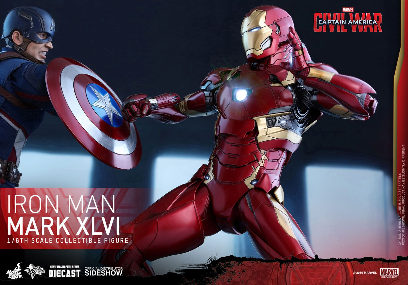 Hot Toys Iron Man Mark Xlvi Sixth Scale Figure With Images