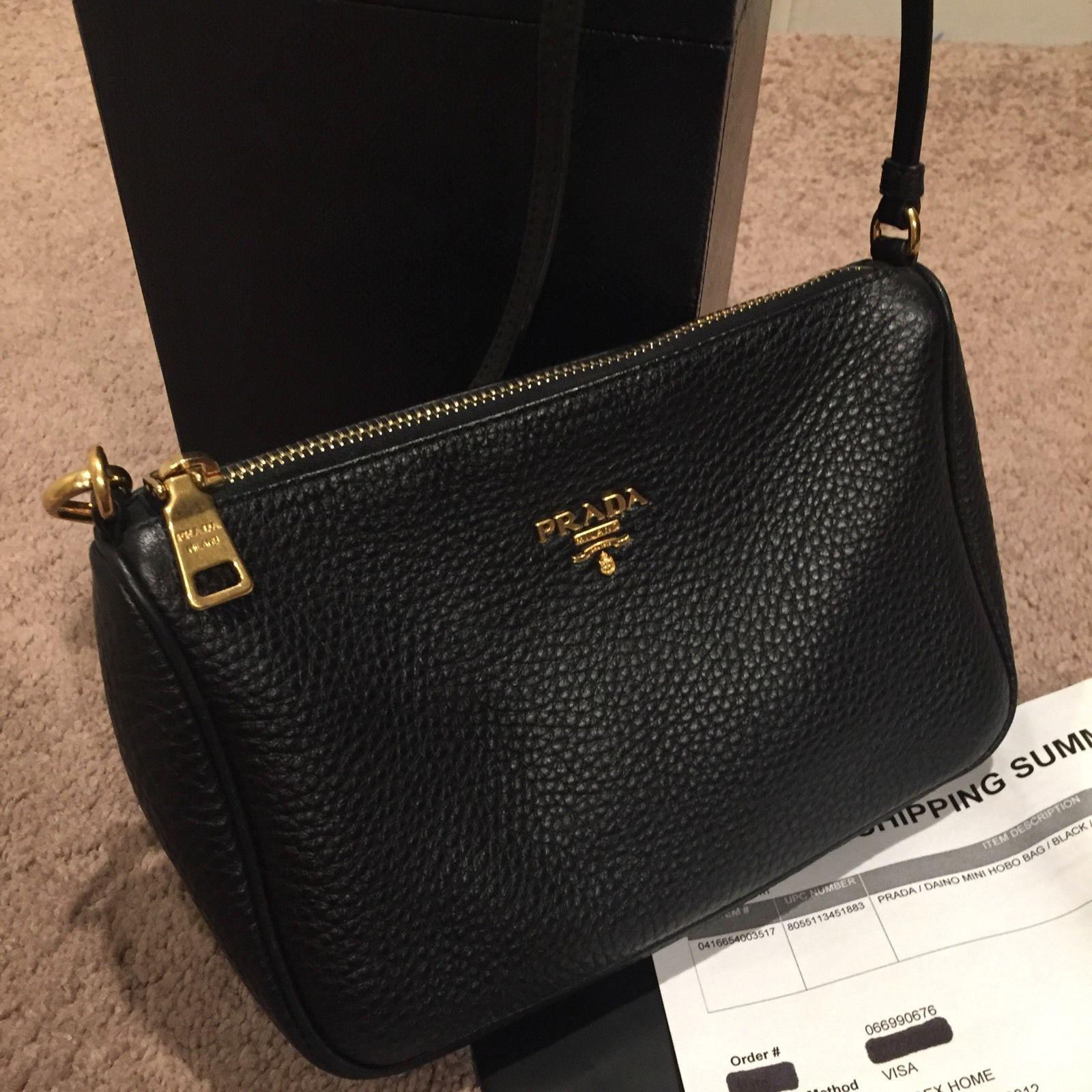 c5fa8595c2b0 ... shopping sold out prada daino hobo mini black leather shoulder bag  399.99 9bf60 ceb6b ...
