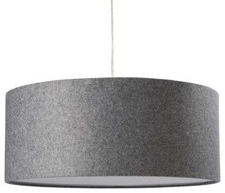 Gray Felt Or Linen Finish Custom Hugely Oversized Drum Pendant