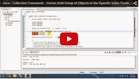 Java Collection Framework Vector Add Group Of Objects In The