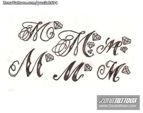 Diseno De Iniciales Tatuajes Pinterest Letras Para Tatuajes