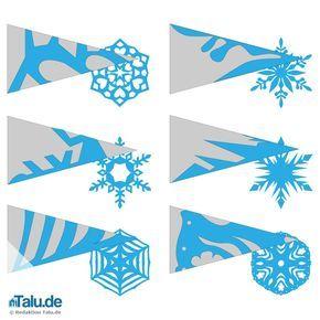 Schneeflocken aus Papier basteln - Scherenschnitt-Anleitung - Talu.de