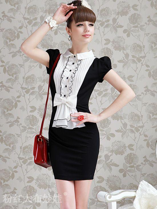 0732e873da Meily City - Vestido Moda Classic Sweet Lazo Corea -km647 - S . 98 ...