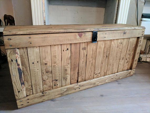 rustic wooden storage trunk storage chest storage bench space