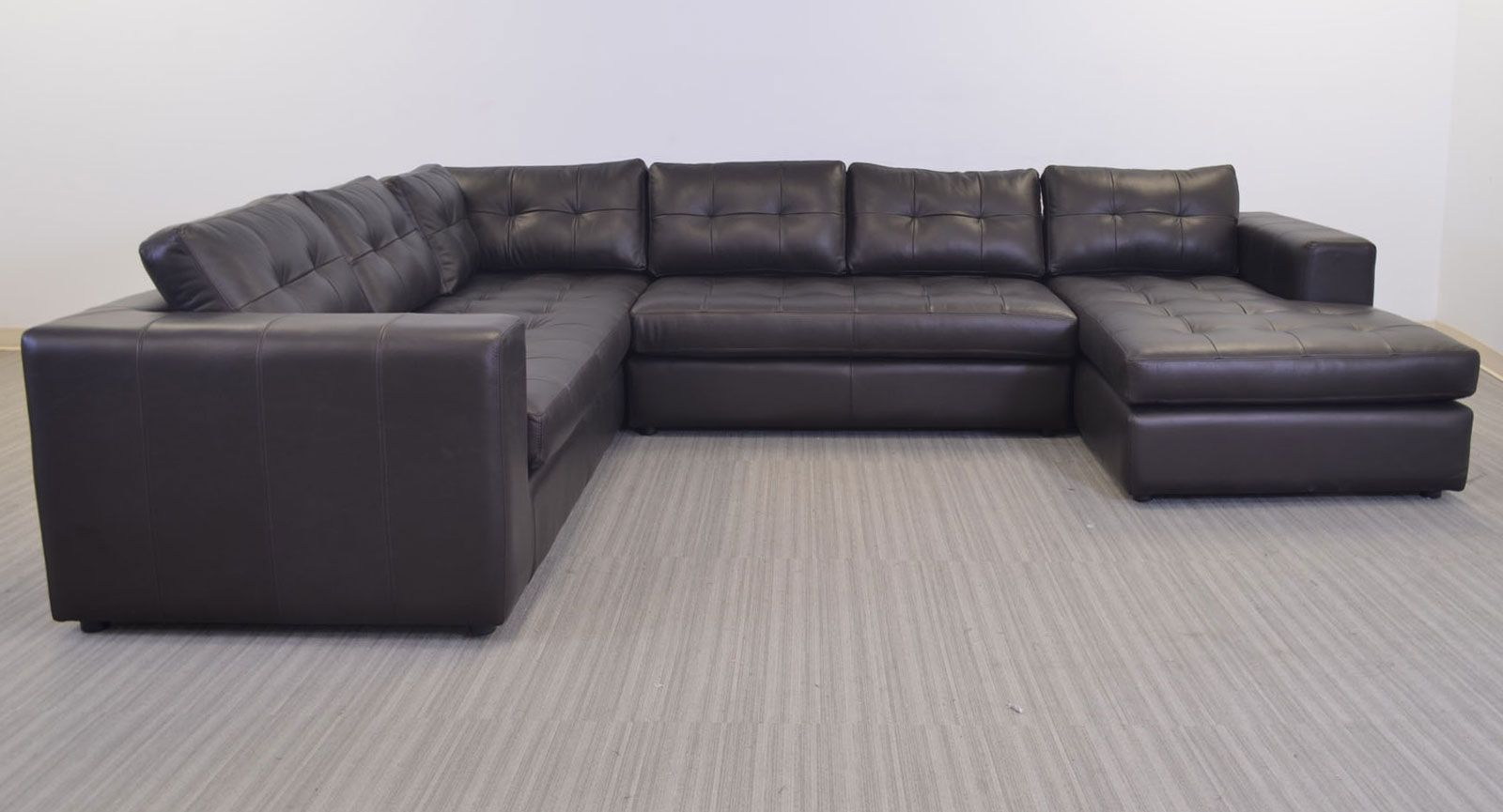 Gev Sofa Sectional The Leather Company Clean Line Large Scale Contemporary Style Multi Room Functionality This Was Hand
