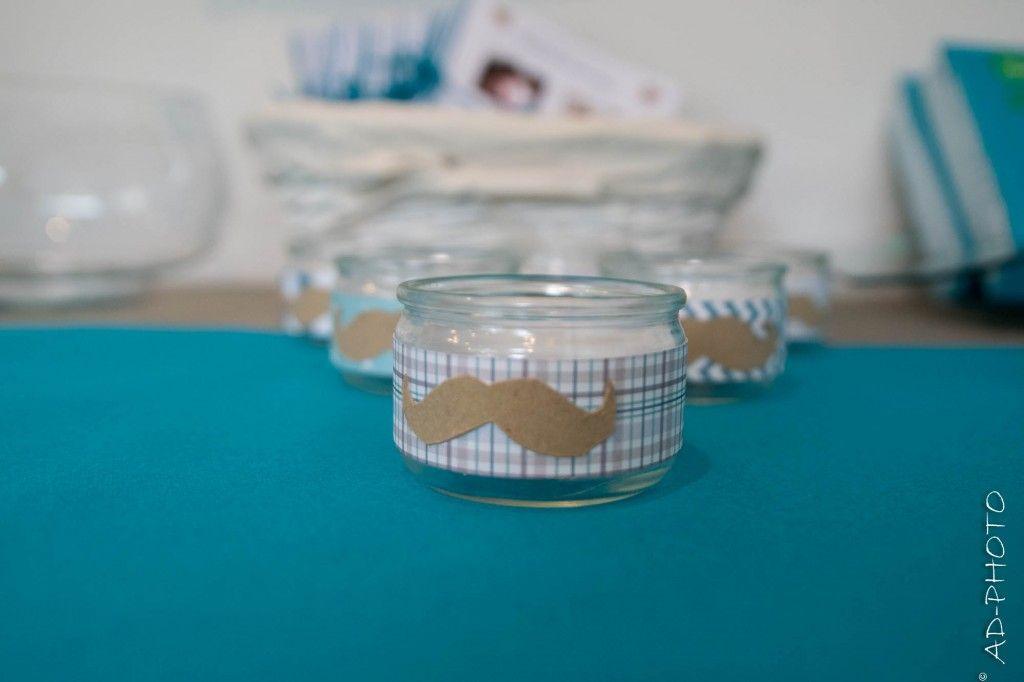 Diy photophore moustache bapt me anniversaire mariage anniversaire lu - Diy photophore mariage ...