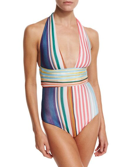 Striped wrap swimsuit - Multicolour Missoni Professional  Clearance Real Get Hard Wearing Sale Official Site WUt0CiN