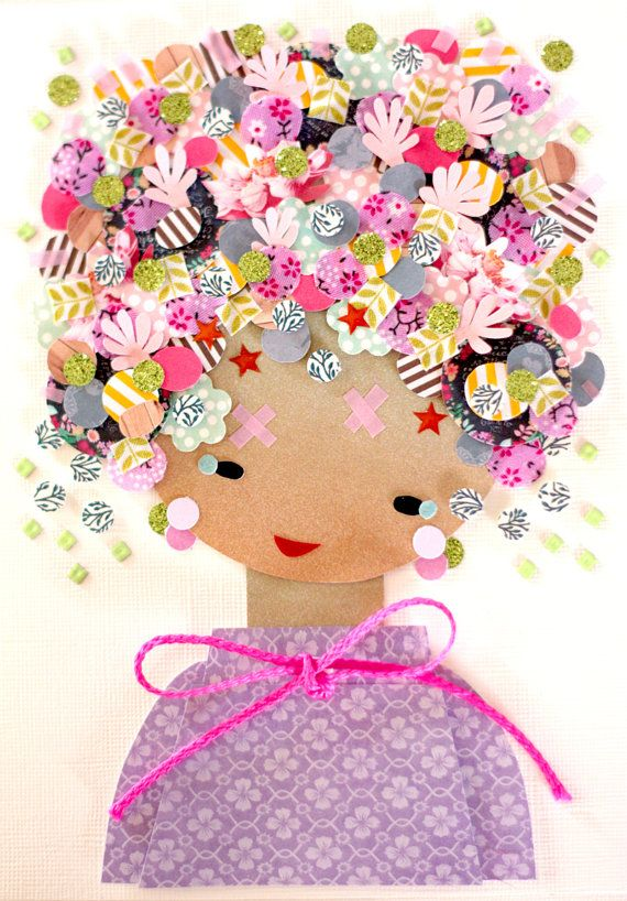 Paper Doll - 021. Original Paper Collage.