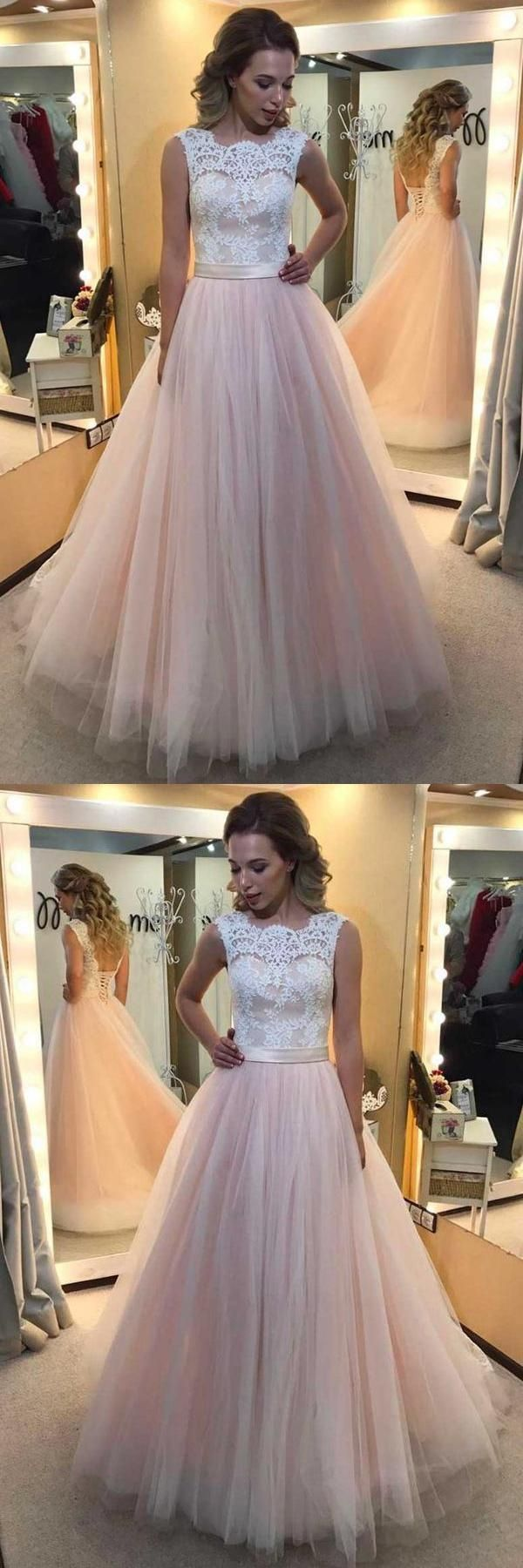 Outlet magnificent lace white prom dresses light pink prom dresses
