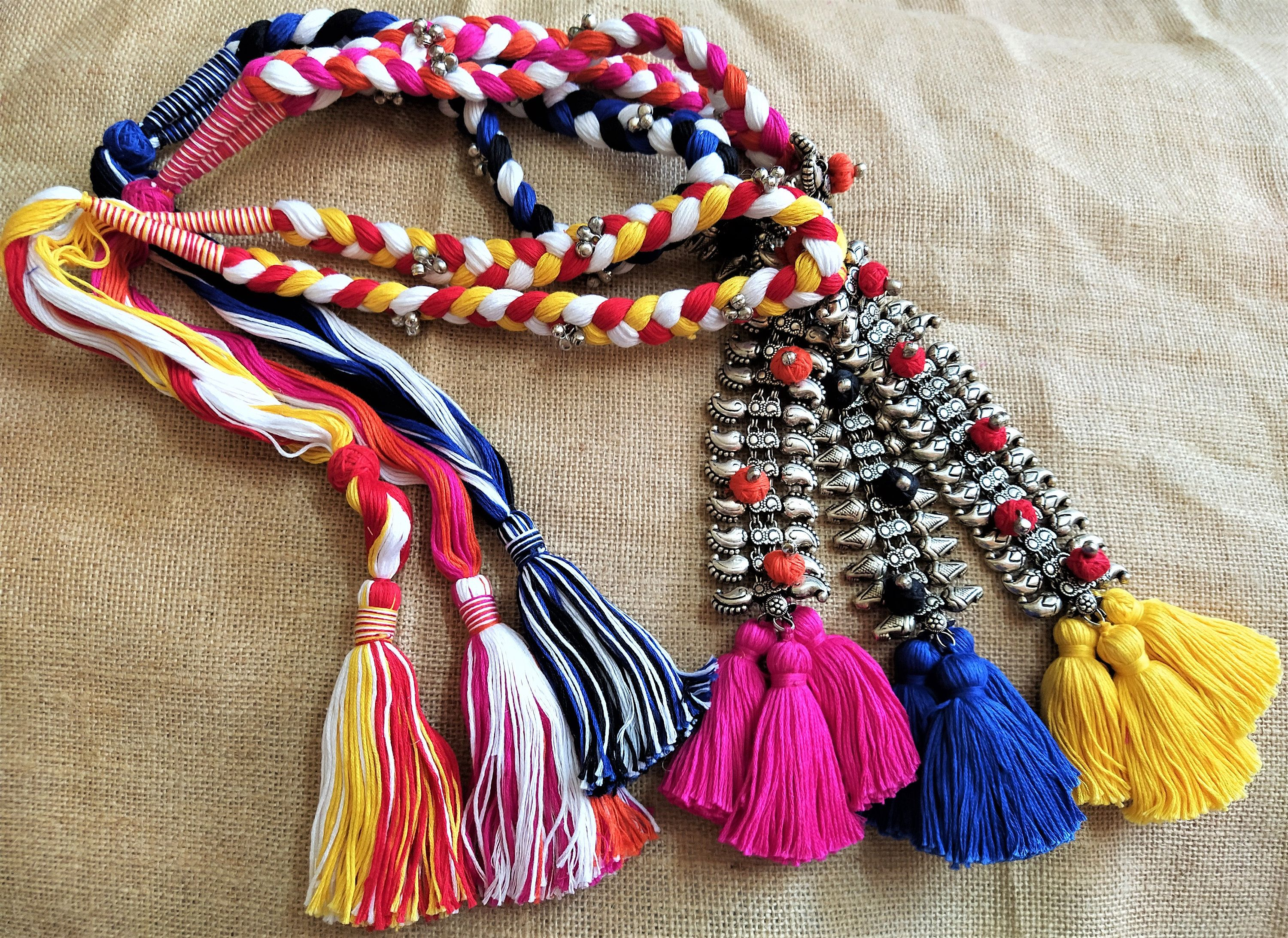 African Tribal Beaded Multiple Gemstone Necklace