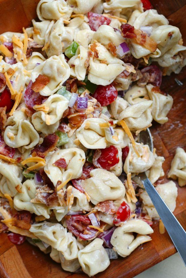 Bacon Ranch Tortellini Salad
