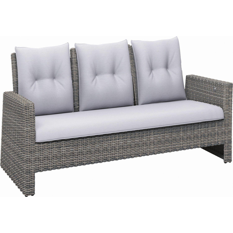 Lounge 3 Sitzer Sofa Thompson Aus Polyrattan Wave Cliff Sofa Polyrattan Gartenmobel Gartenmobel
