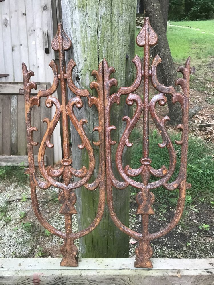 Antique Cast Iron Fence Post Topper Finial Architectural Salvage Iron Fence Wrought Iron Fences Wrought Iron