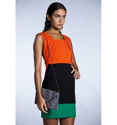 Vestido tricolor estilo Mondrian