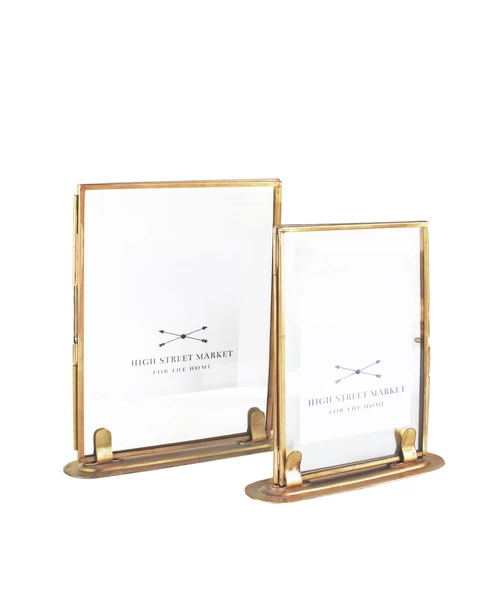 Double Sided Glass Picture Frame Brass 2 Sizes Available High Street Market Double Sided Picture Frame Brass Picture Frames Glass Picture Frames