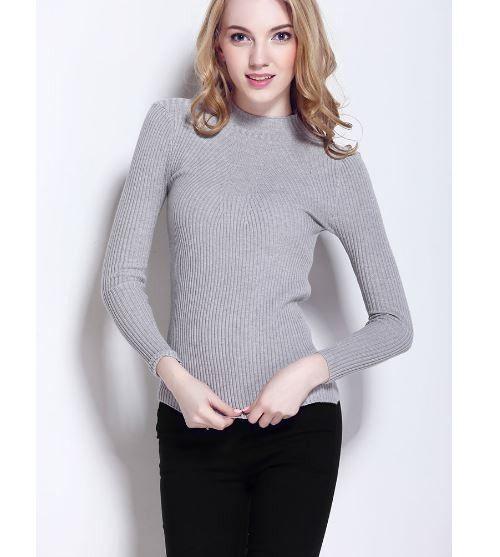 Lehký dámský podzimní svetr šedý – SLEVA 60 % + POŠTOVNÉ ZDARMA Na tento  produkt se 8188559eae