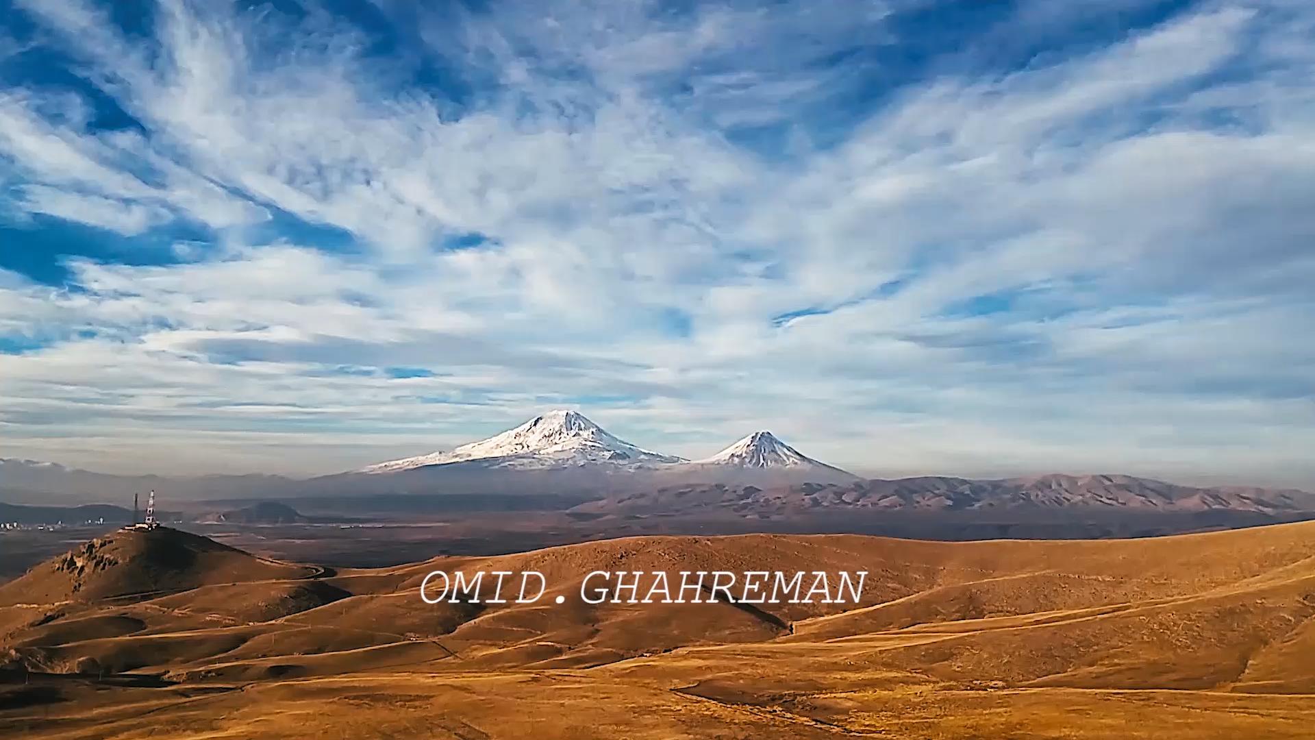 Ararat mountain From maku by omid ghahreman کوه آرارات از شهر سنگی ماکو توسط : امیدرضا قهرمانزاده