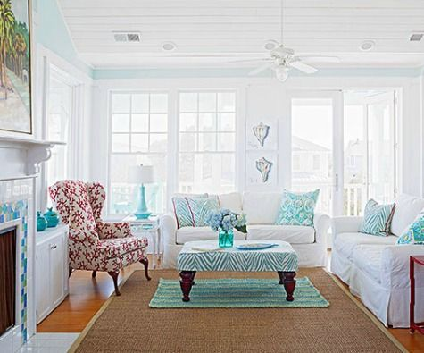coastal living room color ideas from better homes and gardens httpwww - Living Room Color Ideas