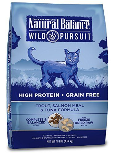 Natural Balance Wild Pursuit High Protein Grain Free Dry Cat Food Trout Salmon Meal Tuna Formula 10 Pound With Images Dry Cat Food Cat Food Natural Cat Food
