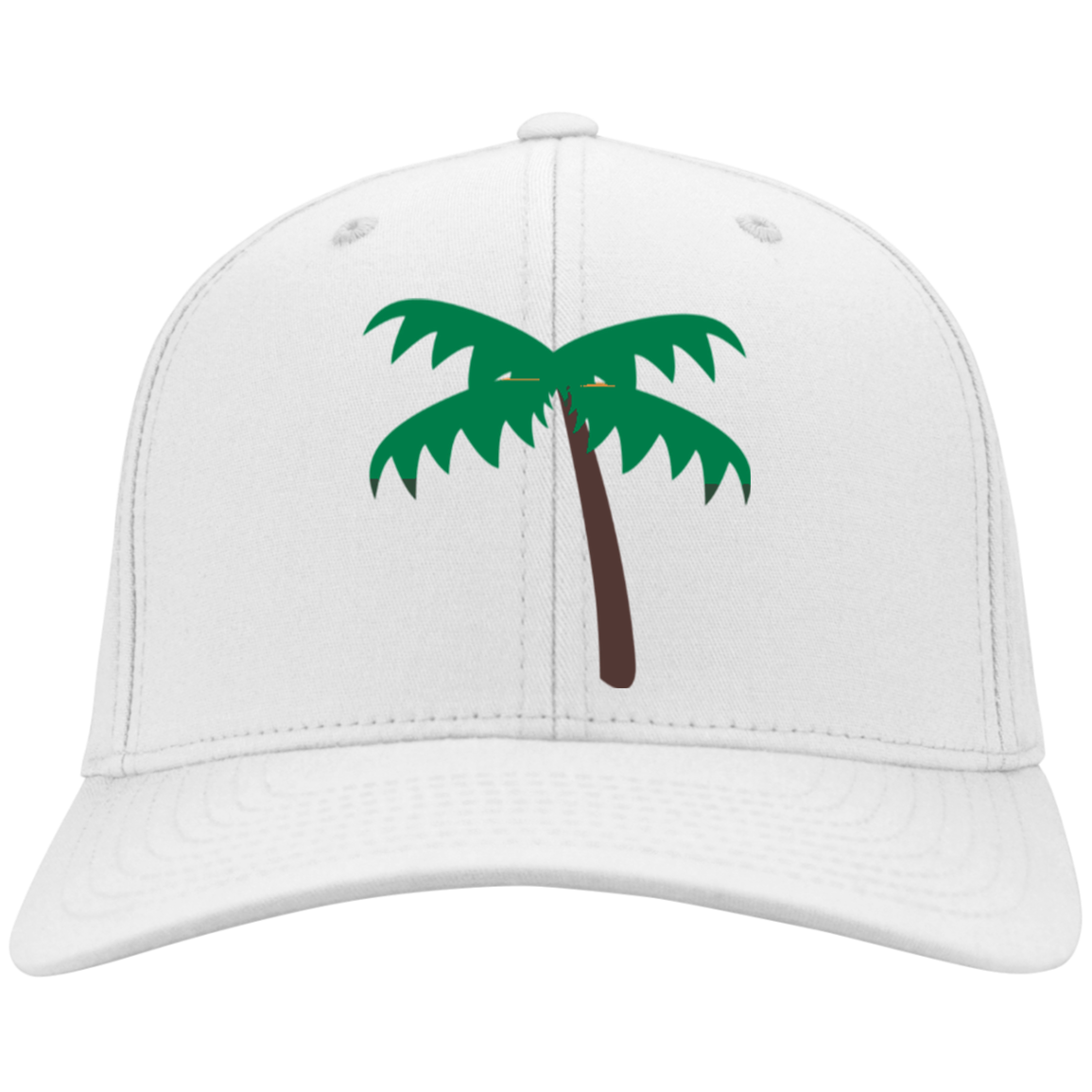 3f9da16df Palm Tree Emoji C813 Port Authority Flex Fit Twill Baseball Cap ...