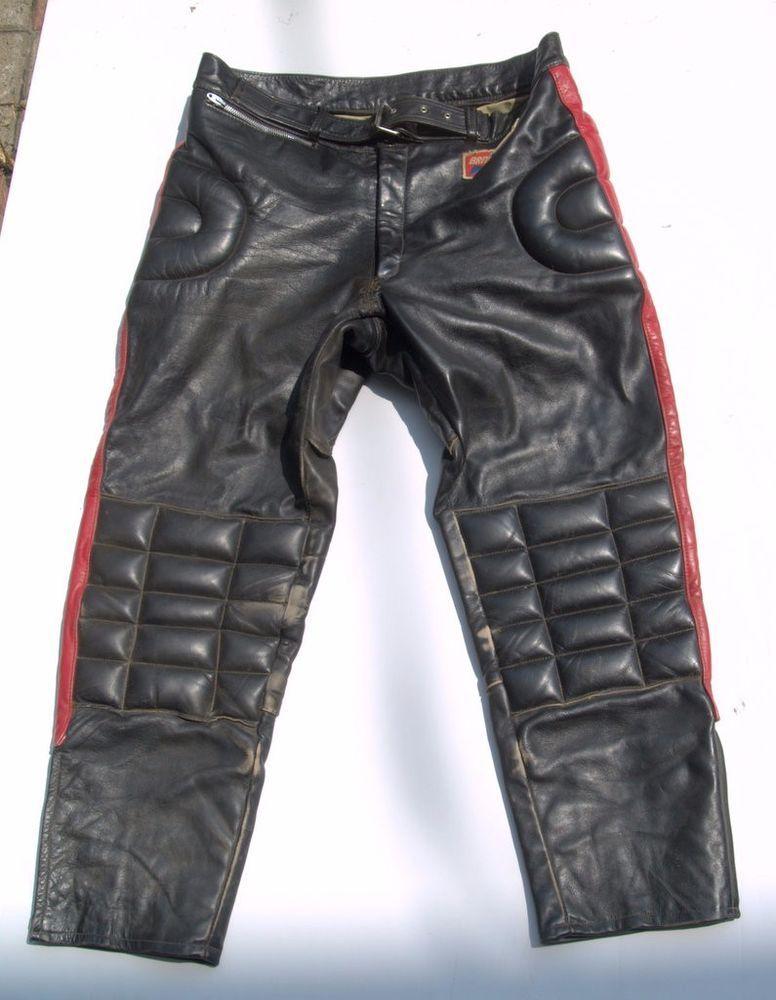 8bfd4268806ed vintage motocross pants black red leather | 2 Stroke Motocross ...