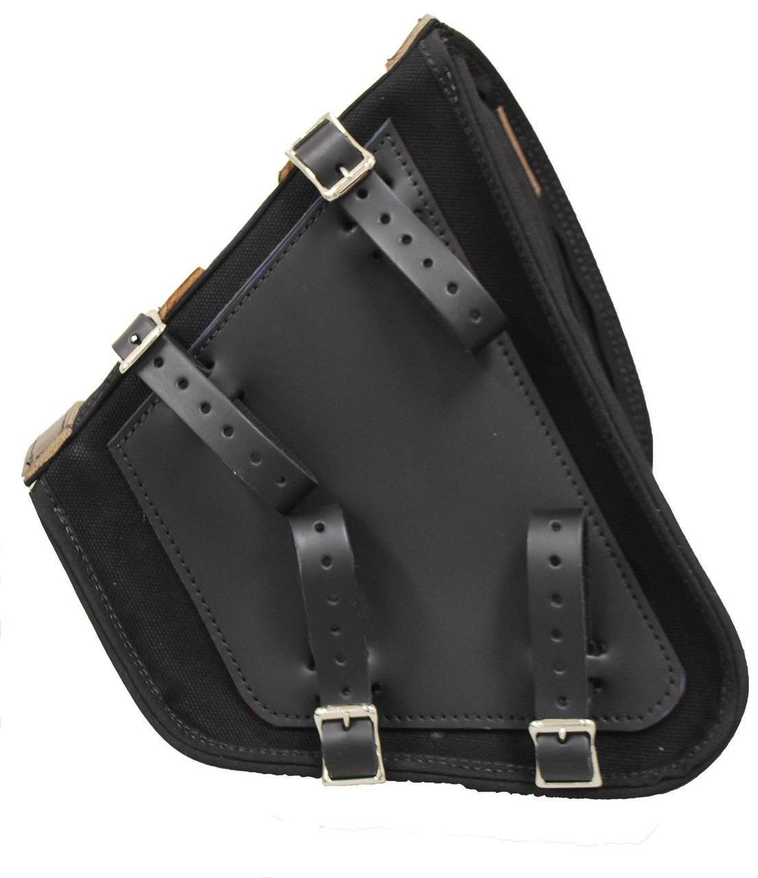 bd275952fd5d La Rosa Harley-Davidson All HD Softail Canvas Softail Left Side Saddle Bag  Swingarm Bag Black with Brown Leather Straps - La Rosa Design Corp   ...