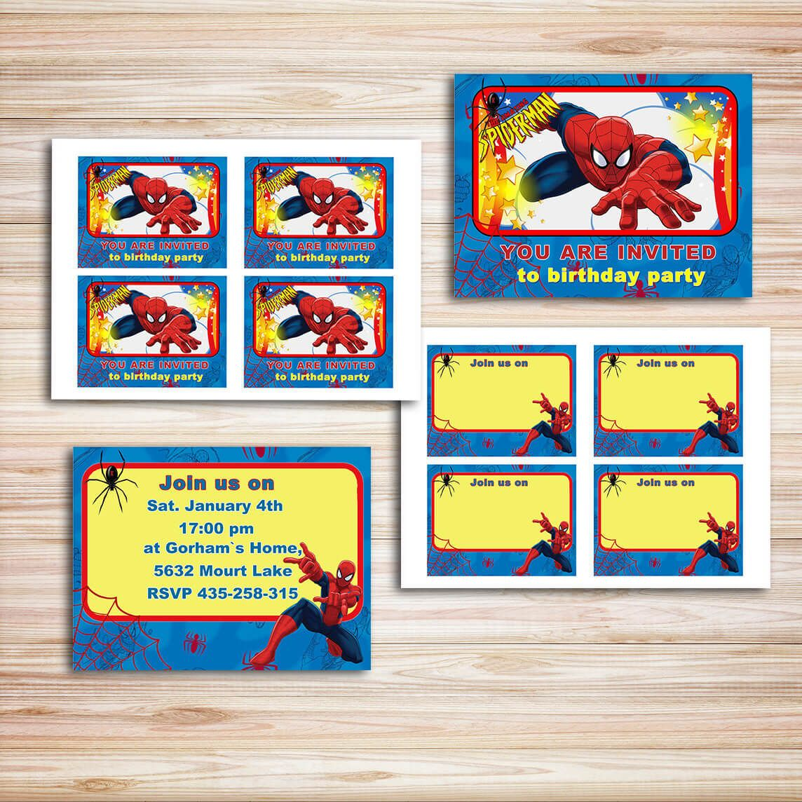 Spiderman Party DIY Invitations is a great way to impress guests and