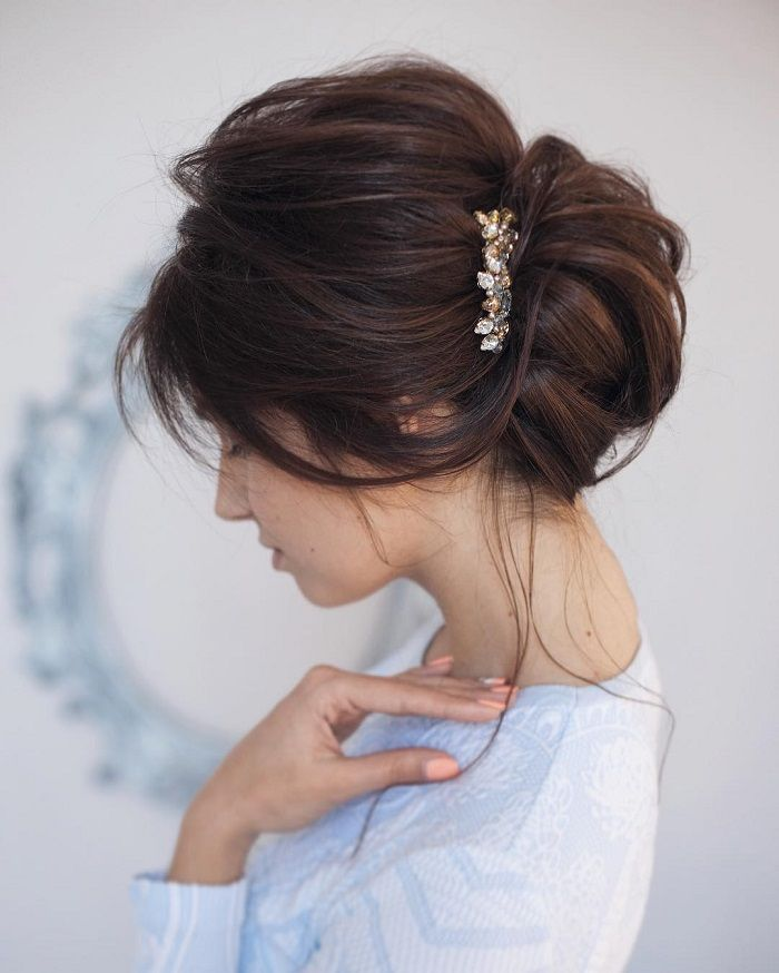 Updo Hairstyle For Wedding: Itakeyou.co.uk #weddinghair