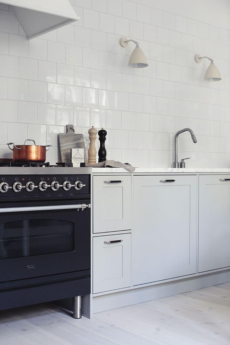 Küchenideen fliesenboden gas stove ilve  cottage kitchen  pinterest