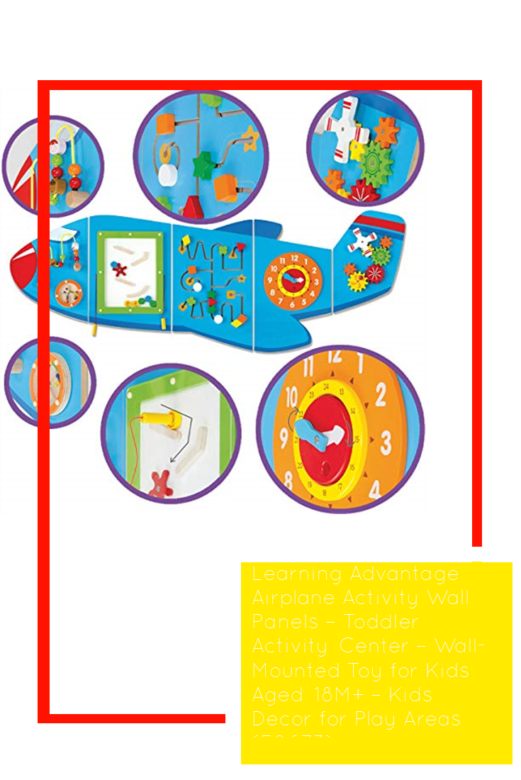 Learning Advantage Airplane Activity Wall Panels Toddler Activity Center Wall Mounted Toy For Kids In 2020 Toddler Activities Airplane Activities Activity Centers