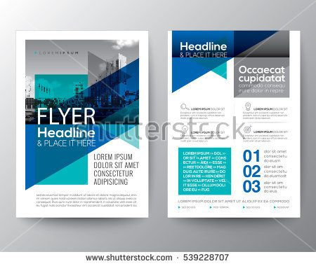 Abstract Blue geometric background for Poster Brochure Flyer - pamphlet layout