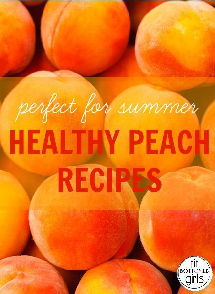 Here are a few delicious, perfect-for-summer healthy peach recipes to enjoy! | Fit Bottomed Girls