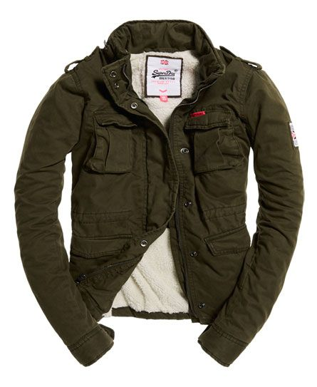 Superdry Winter Rookie Military Jacket Green