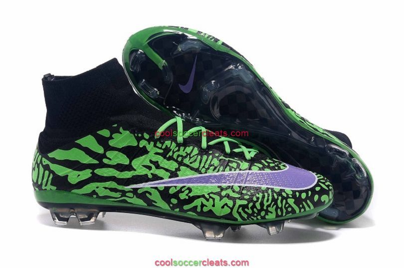 Good Nike Mercurial Superfly FG ID Soccer Cleats Green Black Purple