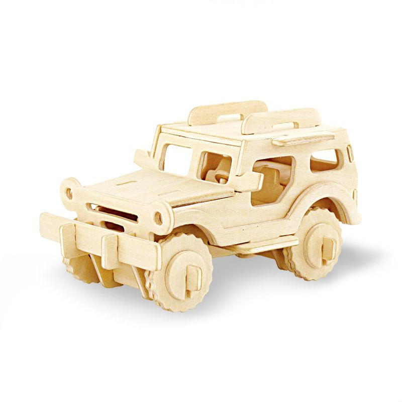 3d wooden jeep car puzzles for kids adults