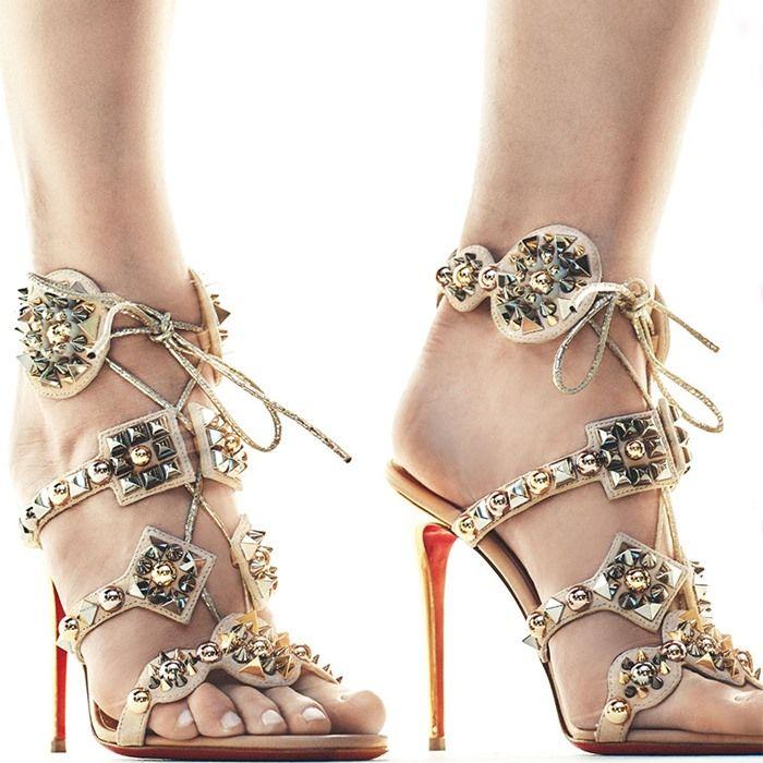 f5370c94208b Christian Louboutin s Glittering  Kaleikita  Spiked Sandals