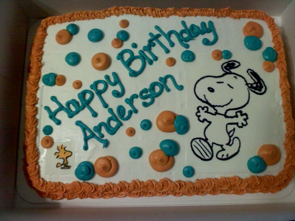 Cute Snoopy Sheet Cake Idea