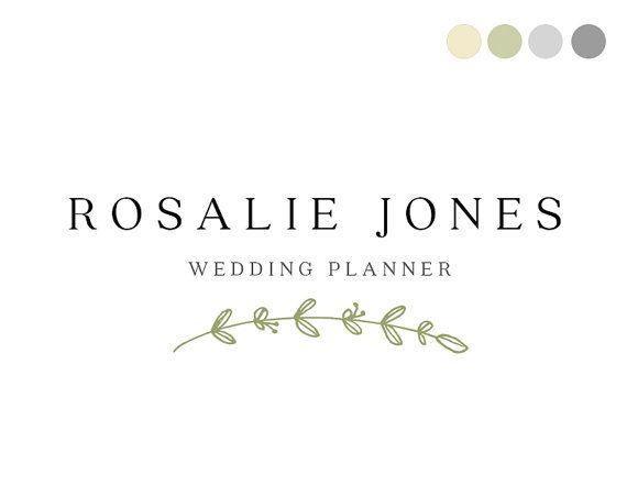 Wedding Planner Logo Design Elegant By CrookedLittlePixel