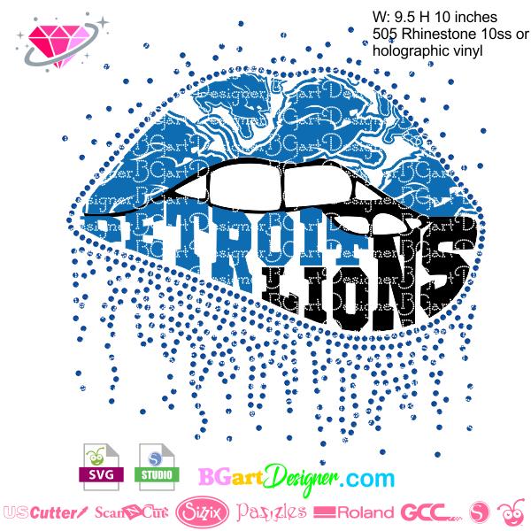 Dripping lips detroit lions Detroit lions, Lion