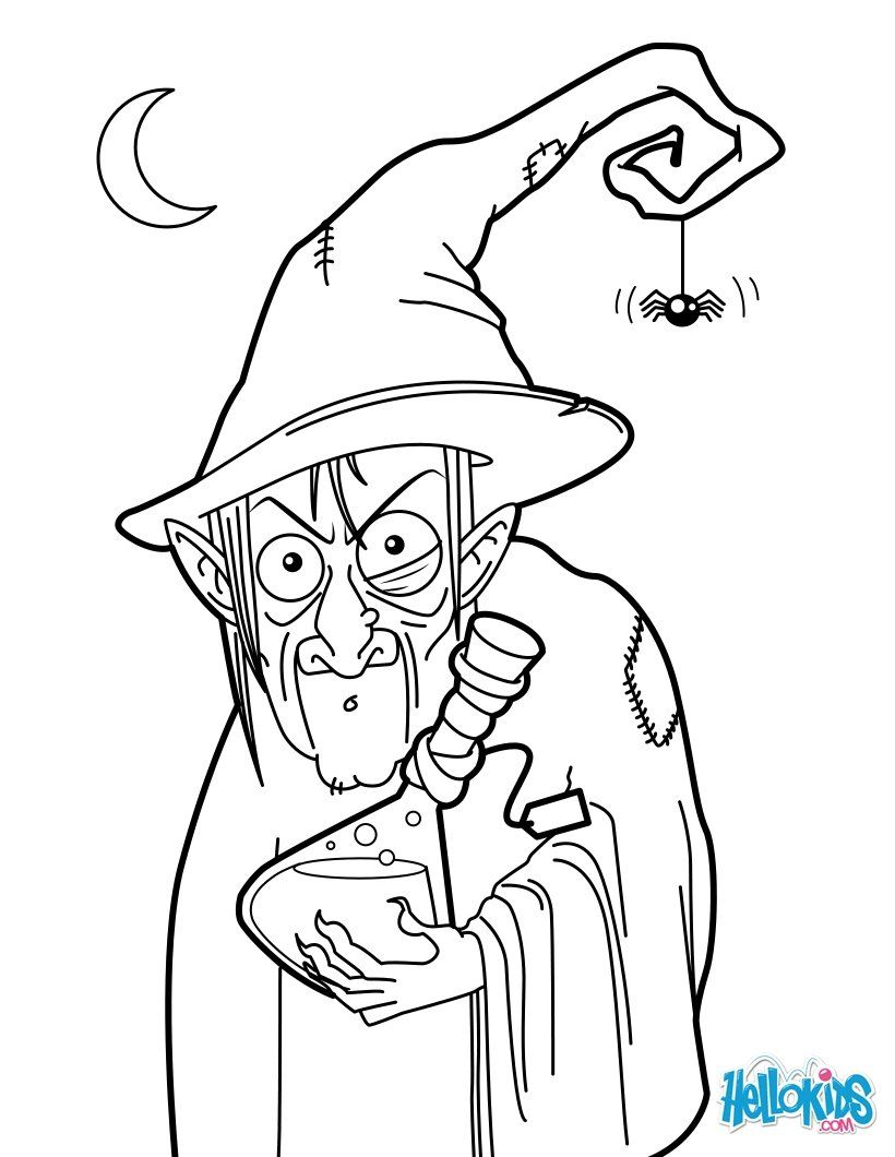 witches colouring pages witch potion coloring page - Witch Colouring Pages