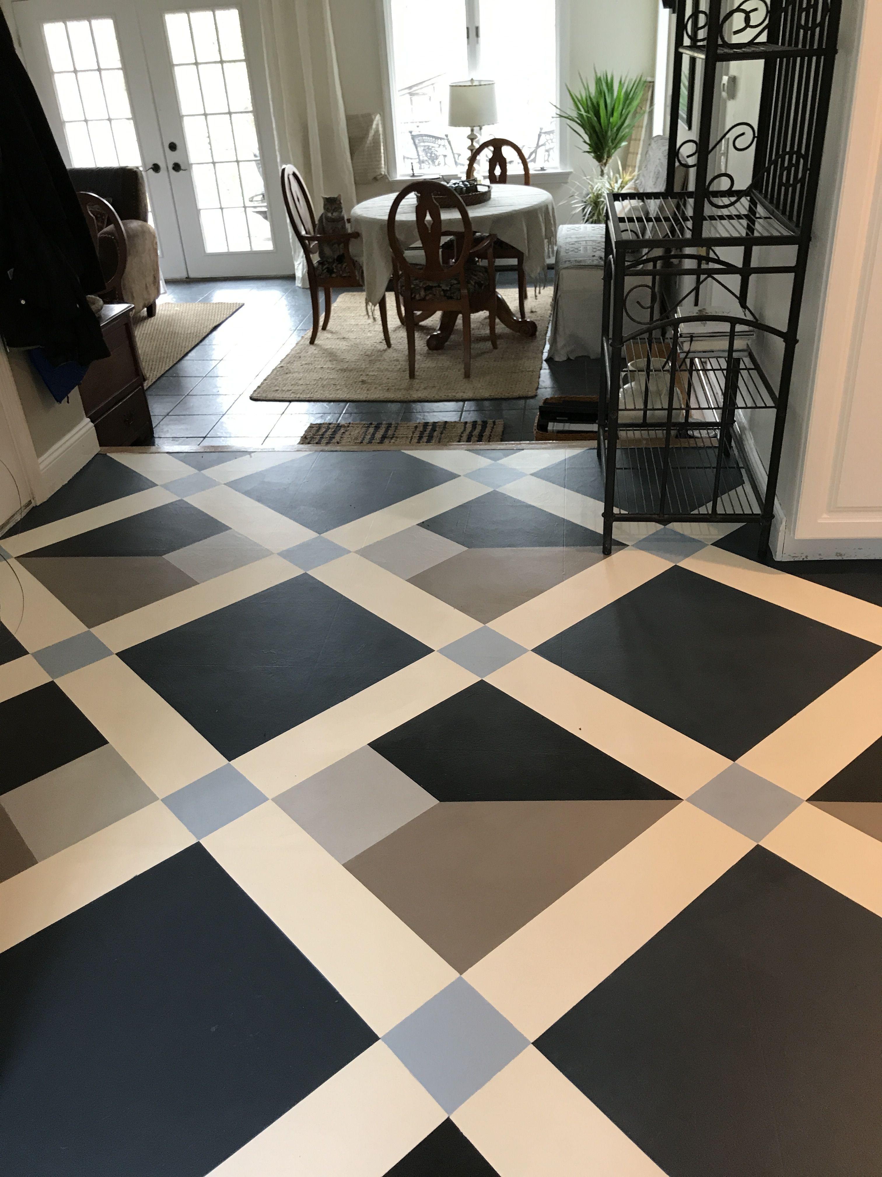How To Paint Old Linoleum Kitchen Floors Linoleum Kitchen Floors Floor Makeover Paint Linoleum