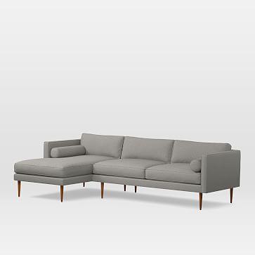 monroe midcentury sectional set 04 petite right arm sofa petite rh pinterest ca