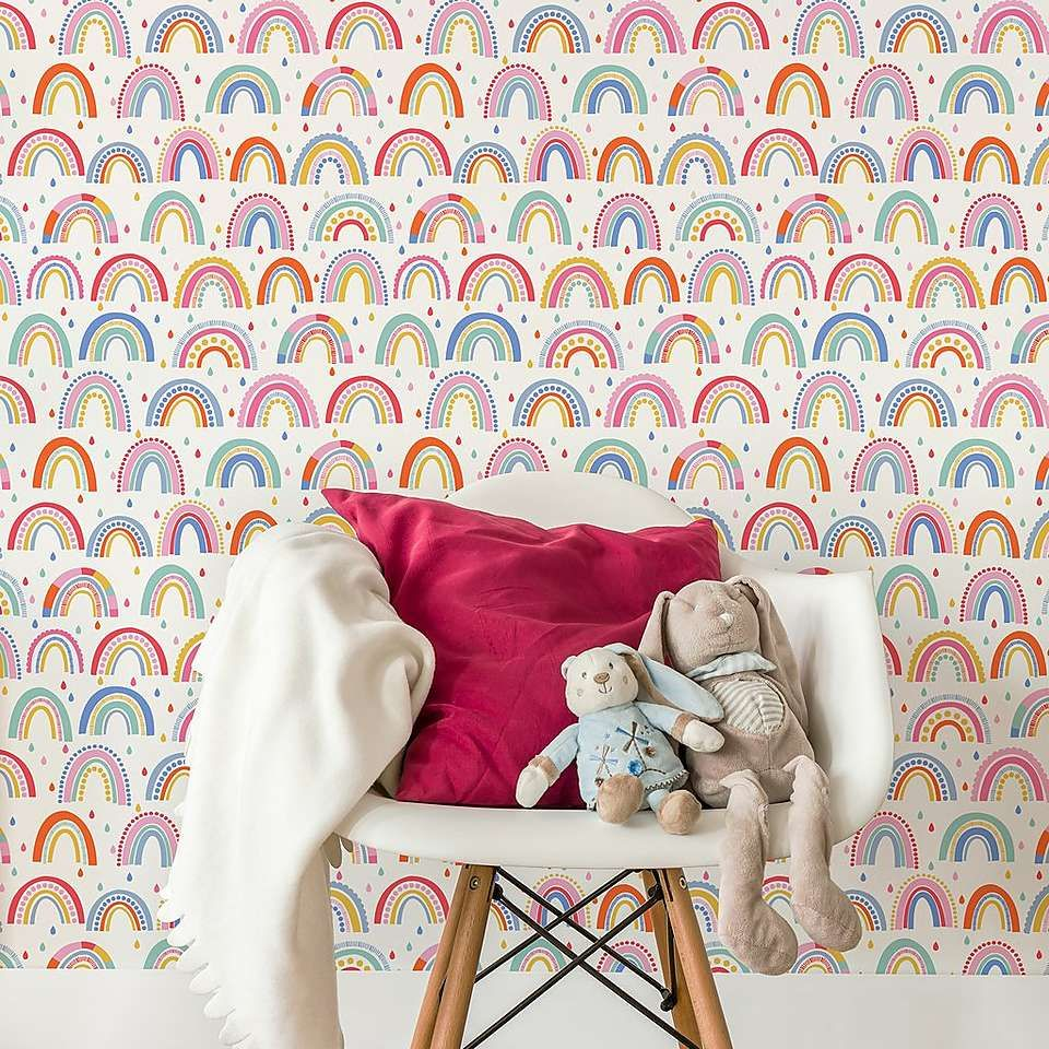 Over The Rainbow Wallpaper In 2019 Childrens Bedroom
