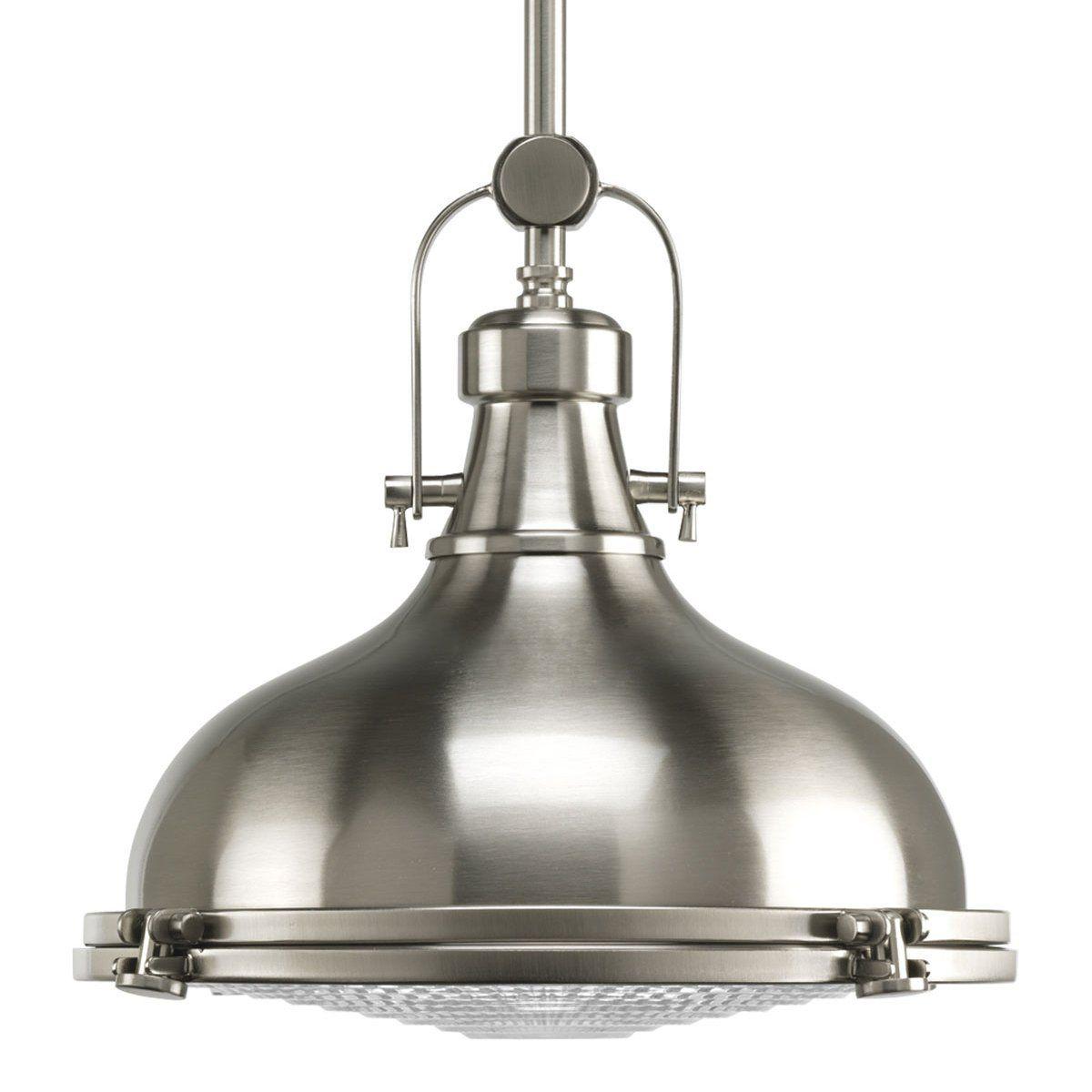 Pregress Lighting 193 Dome Pendant Lighting Pendant Light Fixtures Brushed Nickel Pendant Lights