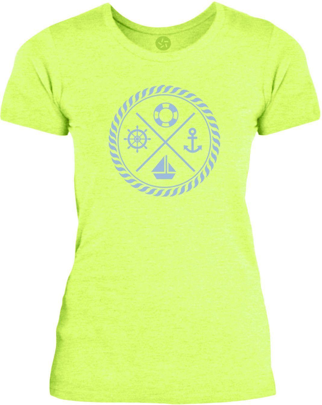 Big Texas Maritime Crest (Blue) Womens Fine Jersey T-Shirt