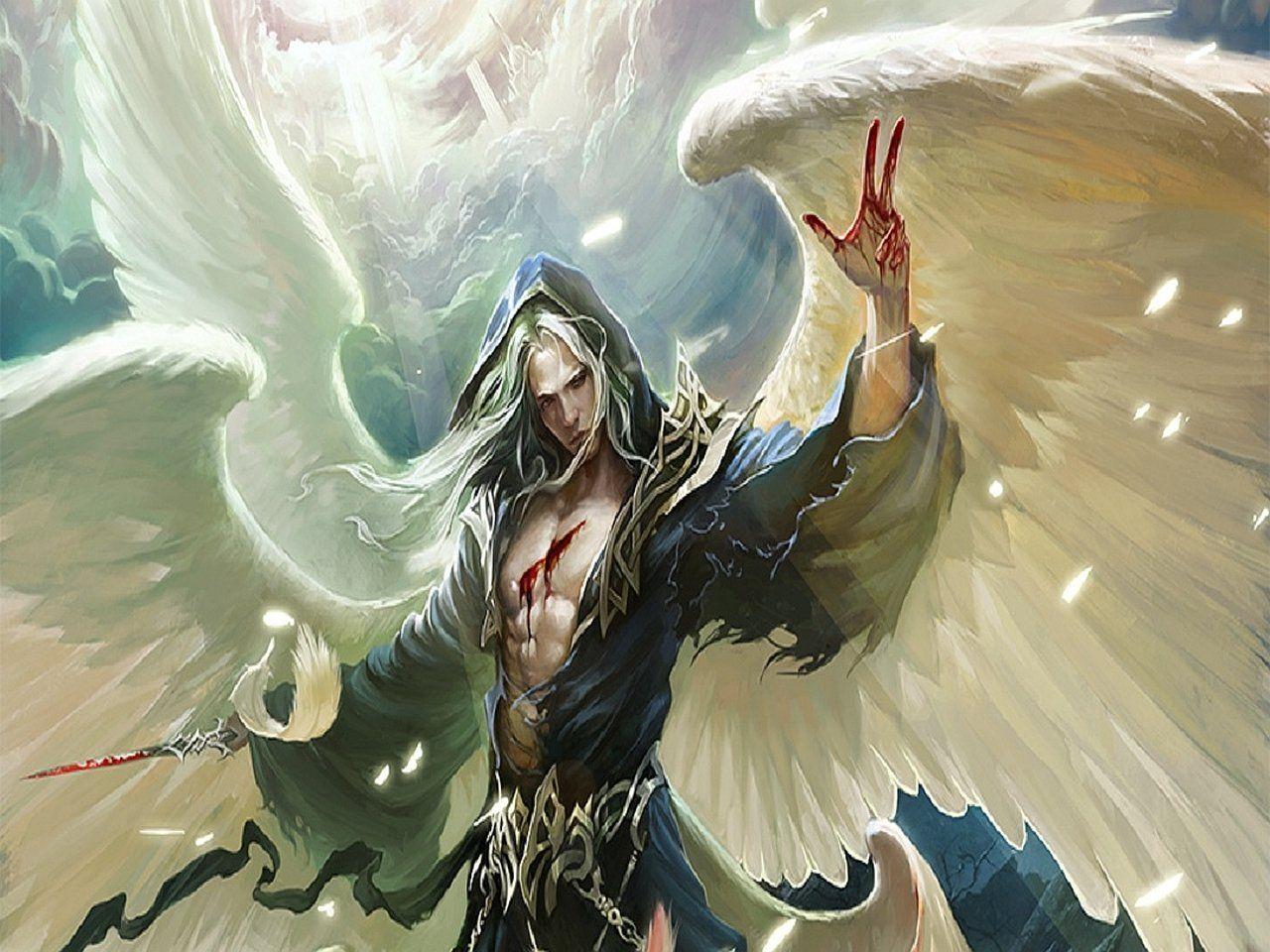 окончательной обработки картинка фэнтези ангел мужчина женский