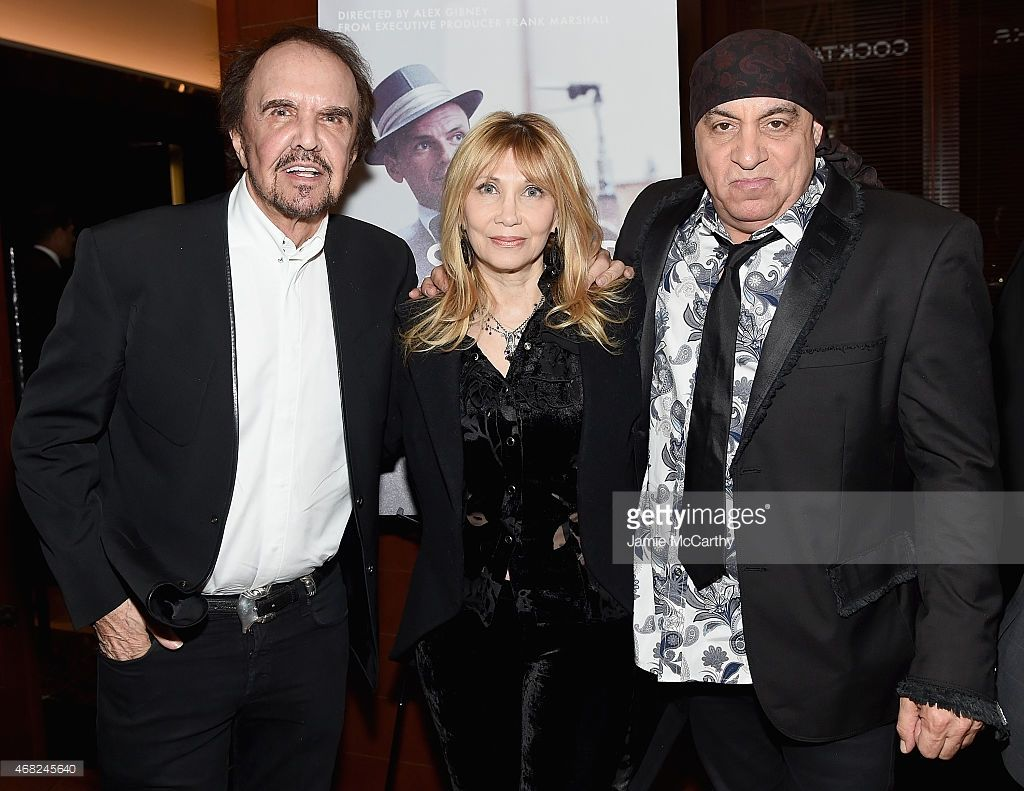 Dave Clark of The Dave Clark Five, Maureen Van Zandt and Steve Van Zandt attend the 'Sinatra: All Or Nothing At All' New York Screening after party at The Porterhouse on March 31, 2015 in New York City.