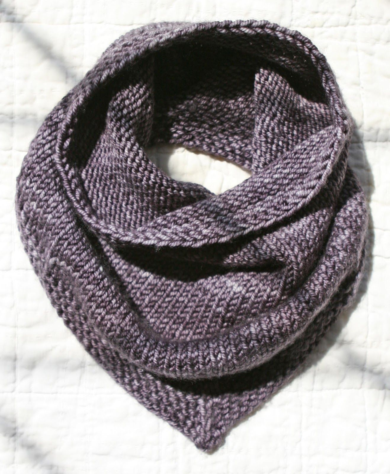 This is the Bandana Cowl, a free pattern from Purl Soho  Can