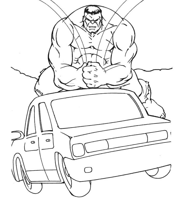 The Hulk Car Coloring Page Hulk Coloring Pages Hulk Coloring Pages Coloring Pages Cars Coloring Pages