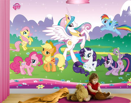Roommates 72 In X 126 In My Little Pony Cloud Xl Chair Rail Epic
